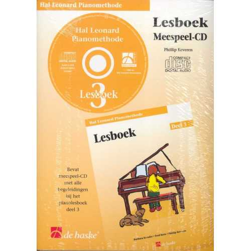 Hal Leonard pianomethode lesboek CD deel 3