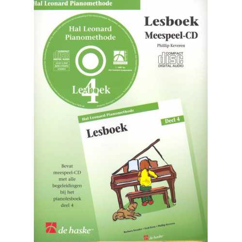 Hal Leonard pianomethode lesboek CD deel 4