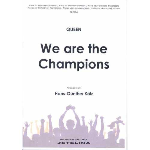 We are the Champoins (partituur)