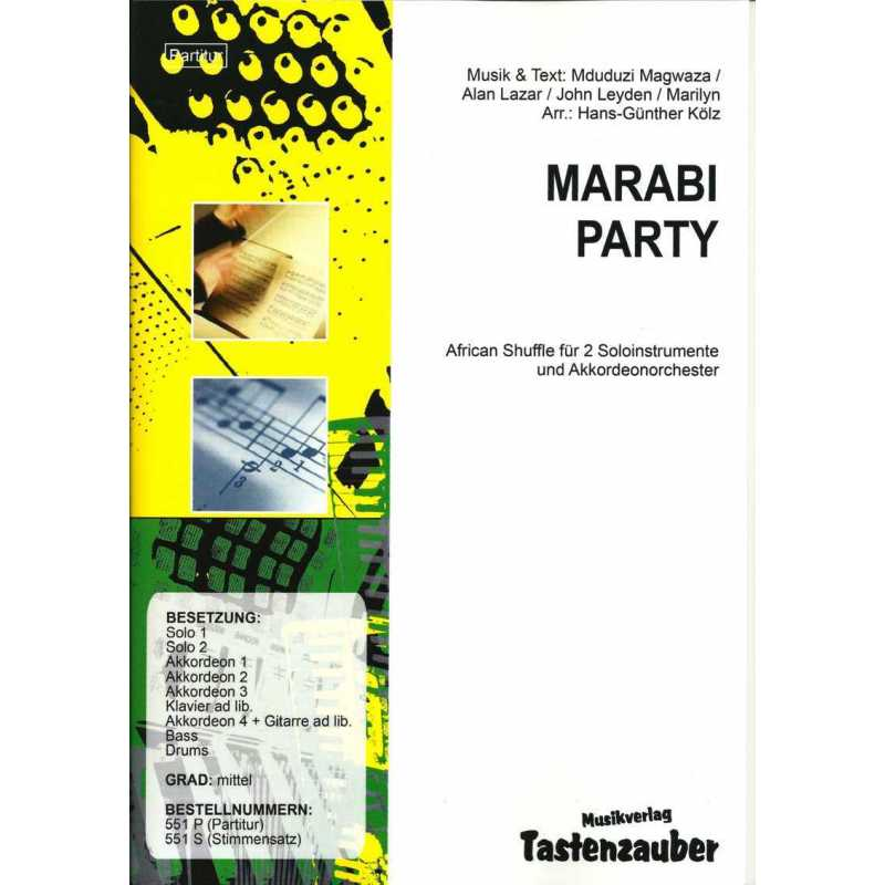 Marabi Party (partituur)