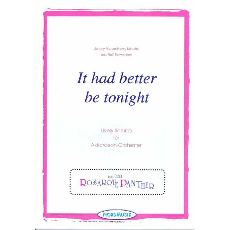 It had better be tonight (stemmenset)