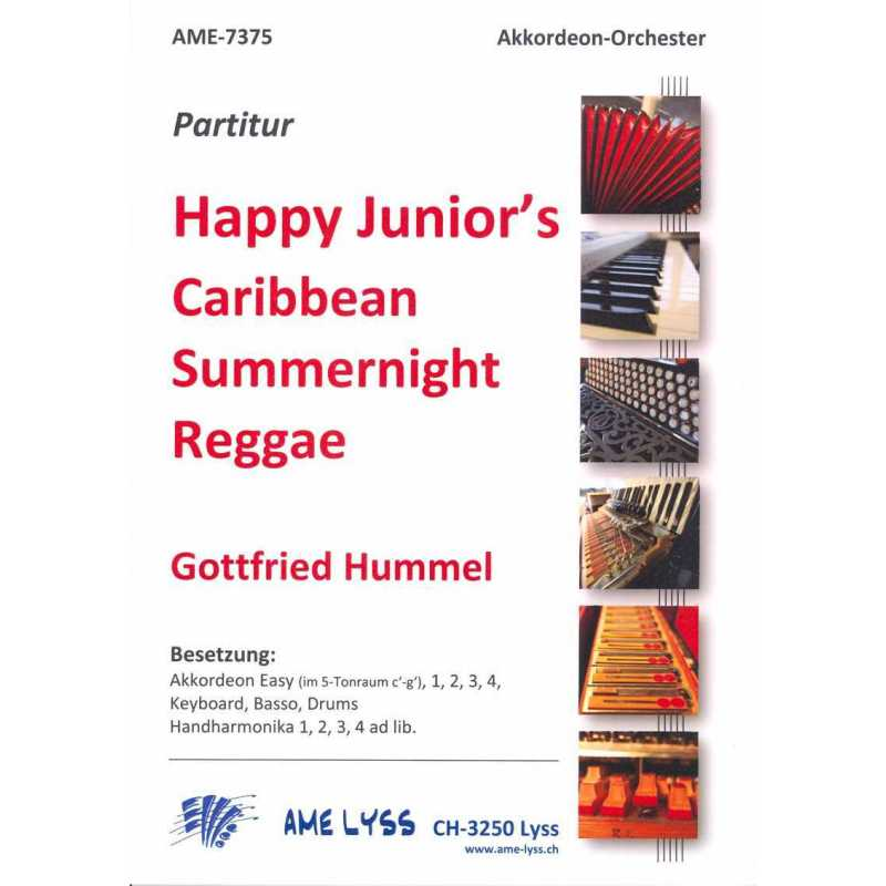 Happy Junior's Caribbean Summernight Reggae (partituur)
