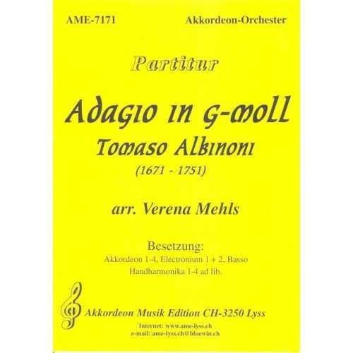 Adagio in g-moll (partituur) (Tomaso Albinoni)