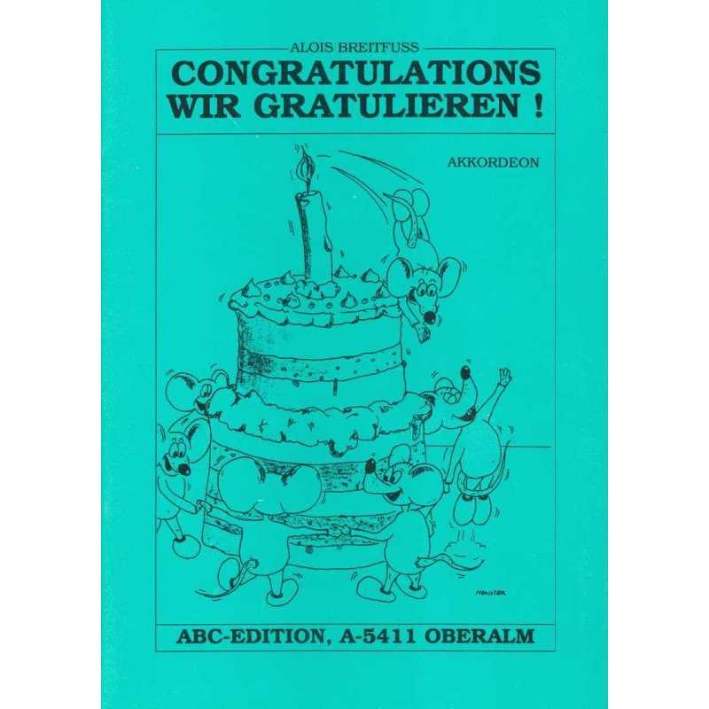 Wir Gratulieren/Congratulations (Alois Breitfuss)