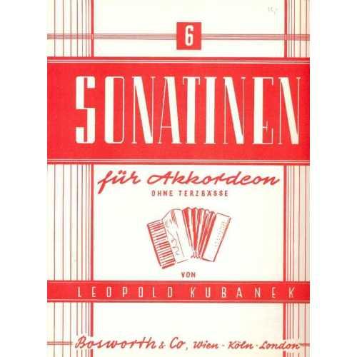 Sechs Sonatinen für akkordeon (Leopold Kubanek)