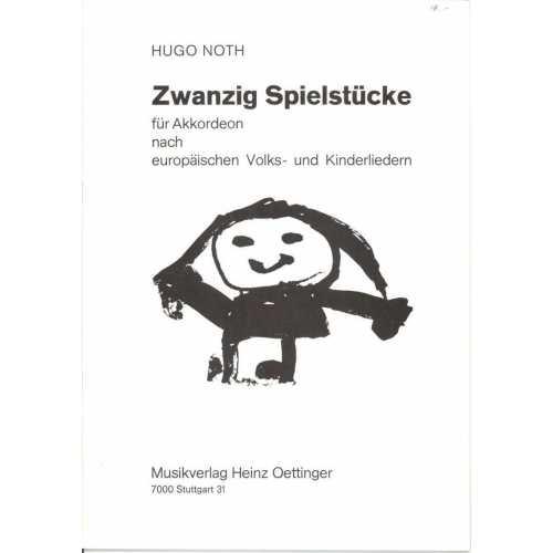 Zwanzig spielstücke für Akkordeon (Hugo Noth)