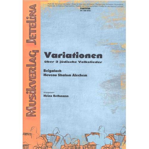 Variationen über 2 Jüdische Volkslieder (partituur)