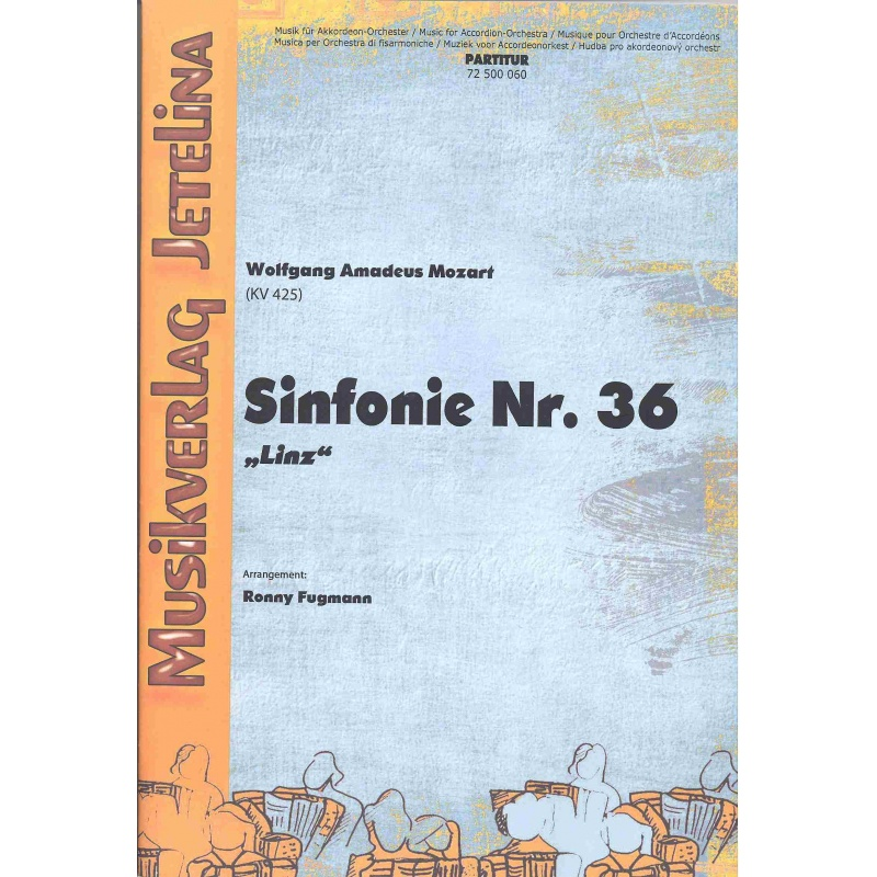 "Sinfonie Nr. 36 ""Linz"" (Wolfgang Amadeus Mozart) partituur"