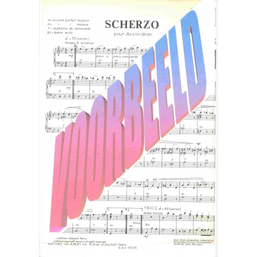 Scherzo pour Accordeon