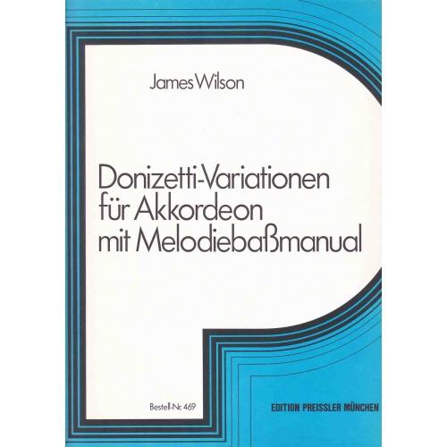 Donizetti-Variationen für akkoorden met melodiebass manual