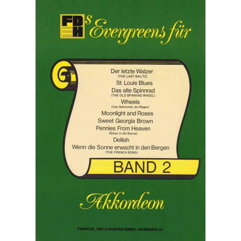Evergreens für akkordeon deel 2
