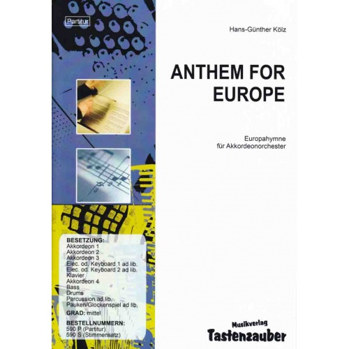 Anthem for Europe (partituur)