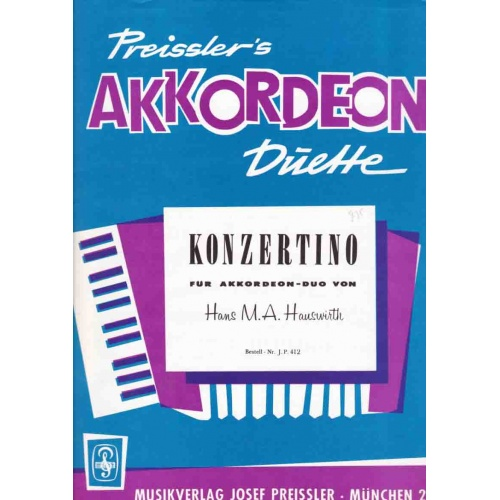 Konzertino für akkordeon-duo