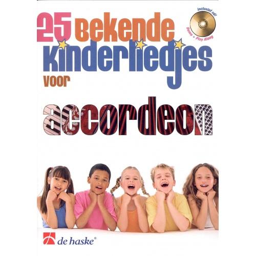 25 bekende kinderliedjes voor accordeon