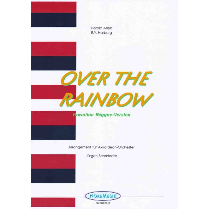 """Over the rainbow (partituur) from """"The wizard of Oz') reggae"""