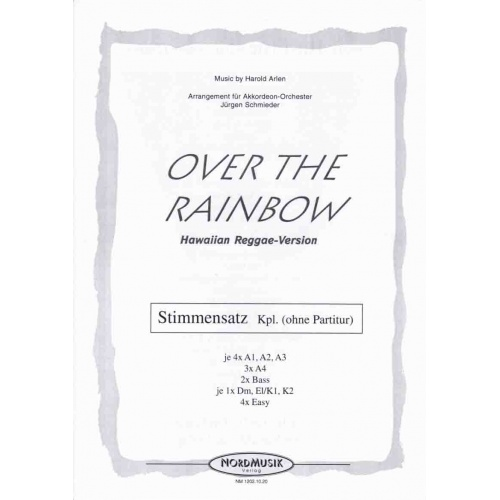 "Over the rainbow (stemmenset) from ""The wizard of Oz') reggae"