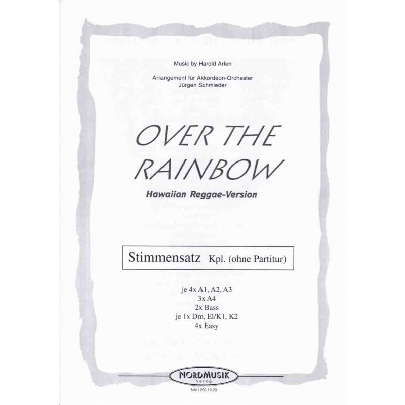"""Over the rainbow (stemmenset) from """"The wizard of Oz') reggae"""