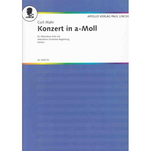 Konzert in a-moll van Curt Mahr (partituur)