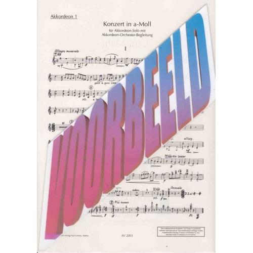 Konzert in a-moll van Curt Mahr (stemmenset)
