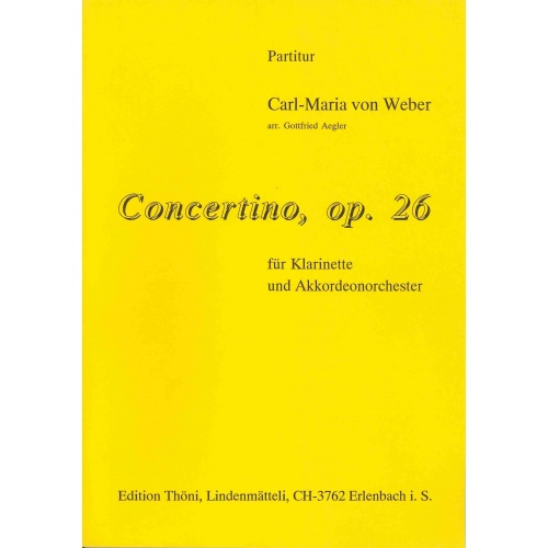 Concertino, opus 26 voor accordeon-orkest met klarinet solist (partituur)