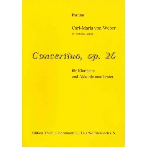Concertino, opus 26 voor accordeon-orkest met klarinet solist (partituur)