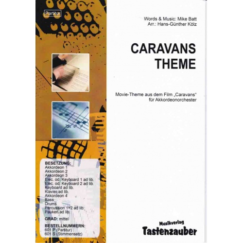 Caravans Theme (partituur) Mike Batt