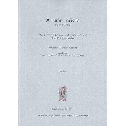 Autumn Leaves (partituur)