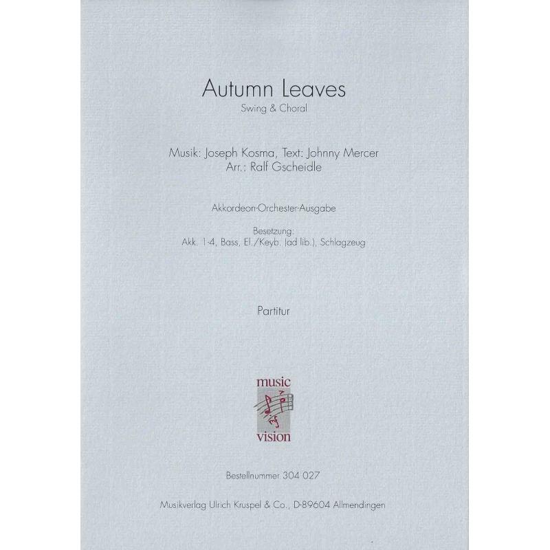 Autumn Leaves (partituur)
