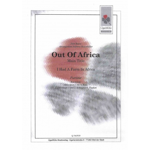 Out of Africa (partituur)