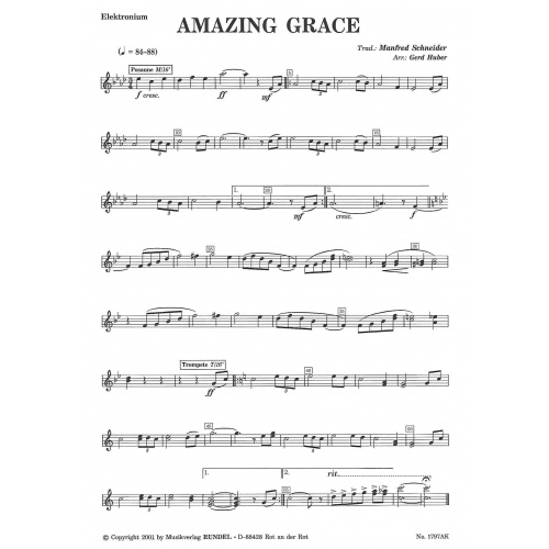 Amazing Grace (partituur)