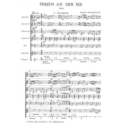 Ferien an der see (partituur)