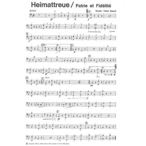 Heimattreue (partituur)