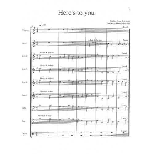 Here's to you (partituur en stemmen)