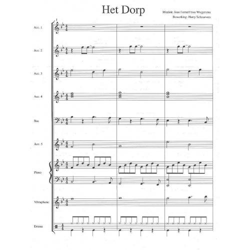 Het Dorp (partituur en stemmen)