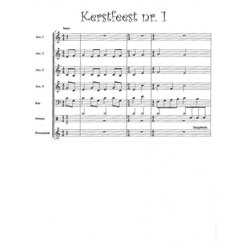 Kerstsfeest Nr. 1 (partituur en stemmen)