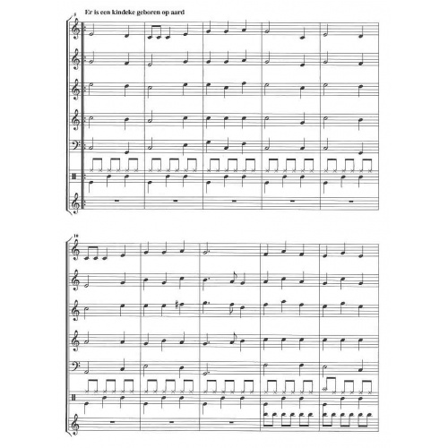 Kerstsfeest Nr. 2 (partituur en stemmen)
