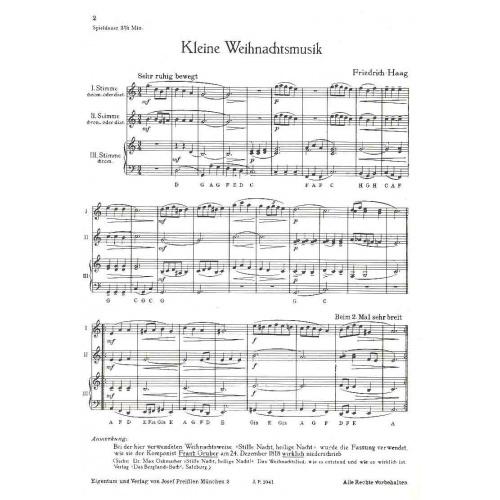 Kleine Weihnachtsmusik (partituur)