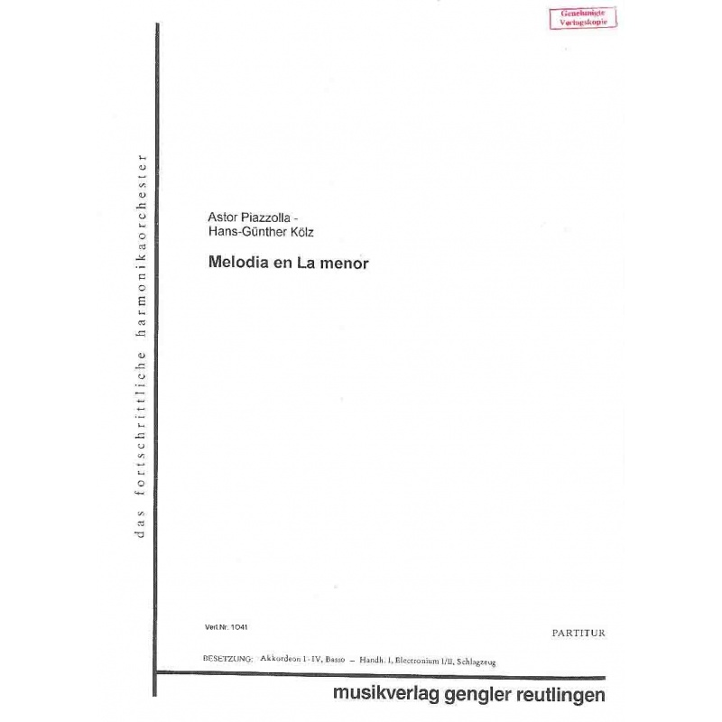 Melodia en la minor (stemmenset)