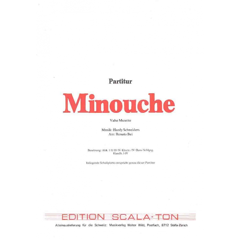 Minouche (partituur)