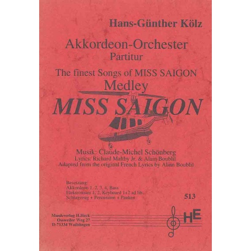 Miss Saigon Medley (partituur)