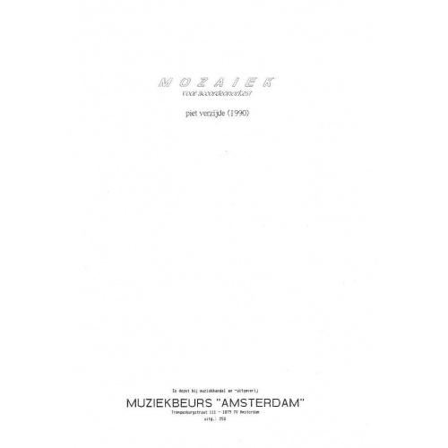 Mozaiek voor accordeonorkest (partituur en stemmen)