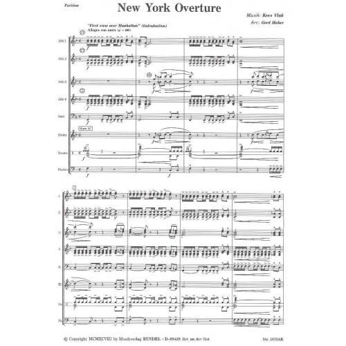 New York Ouverture (partituur)