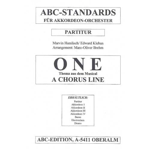 One (uit A Chorus line) stemmenset