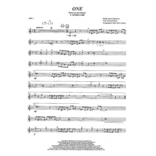 One (uit A Chorus line) partituur