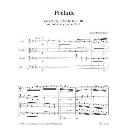 Prélude aus der Englischen Suite nr III (partituur)