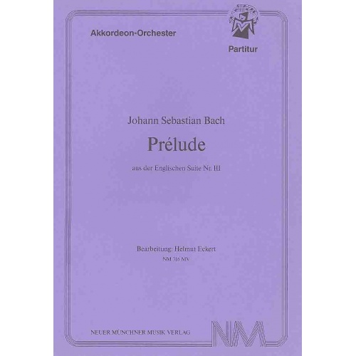 Prélude aus der Englischen Suite nr III (stemmenset)