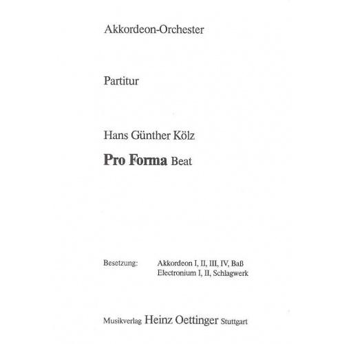 Pro Forma Beat (partituur)