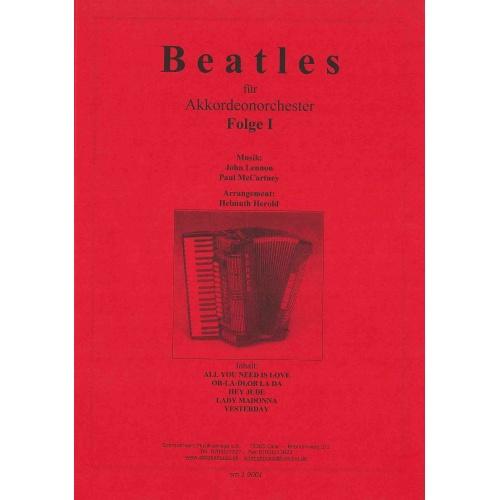 Beatles für akkordeonorchester folge 1 (stemmenset)