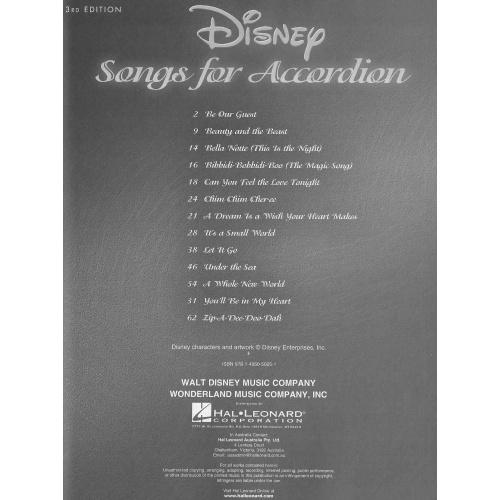 Disney songs for accordion deel 3