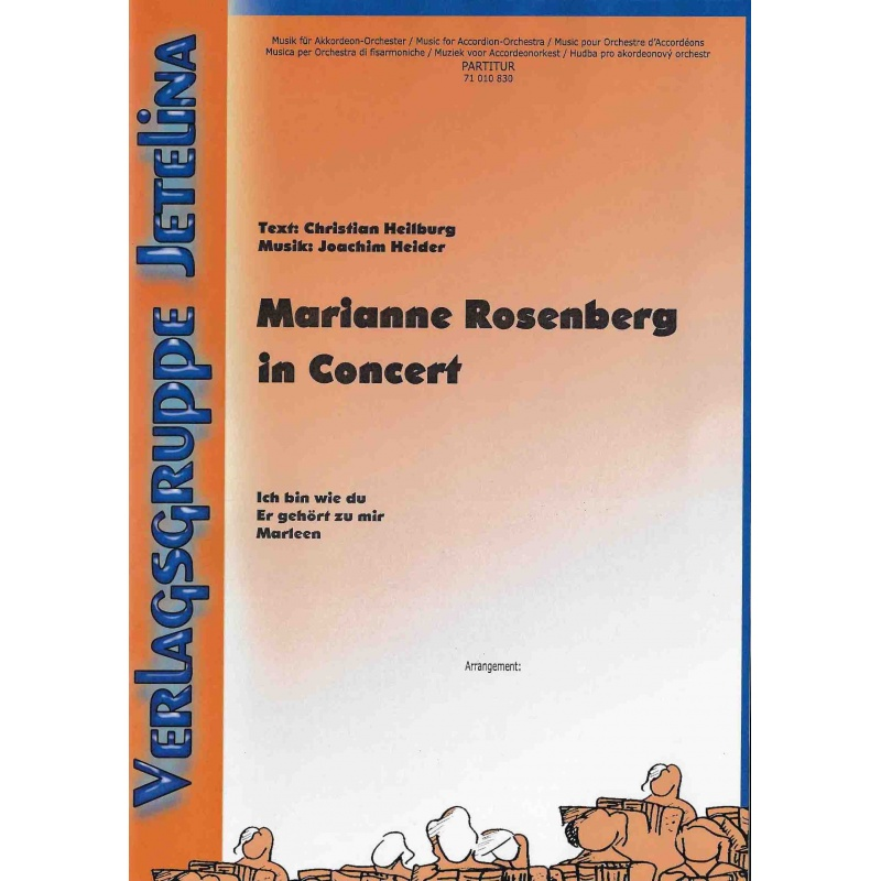 Marianne Rosenberg in Concert (partituur)